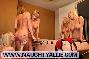 Naughty Allie's Foosball Fun!