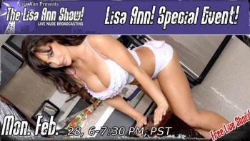See Lisa Ann Live!