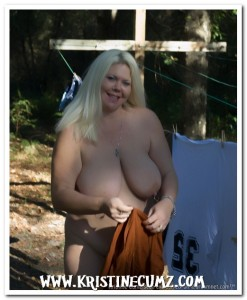 Kristine Cumz Hanging Laundry