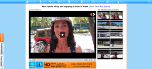 Miss Hybrid biking and enjoying a Drink in Miami  Free Video