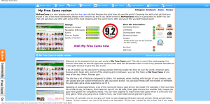 My Free Cams review  rated 9.2  - FreeOnes Reviews