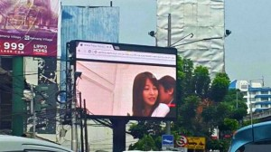 Man-fed-up-with-traffic-thought-watching-porn-on-a-billboard-was-a-good-idea