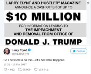 Porn publisher Larry Flynt offers millions for info leading to Trump impeachment - Entertainment & Showbiz from CTV News