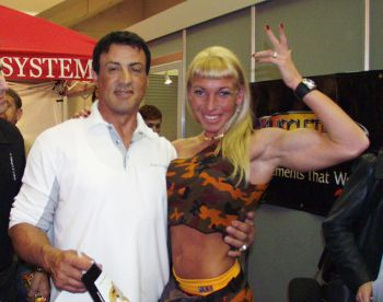Krisztina Sereny with Sylvester Stallone